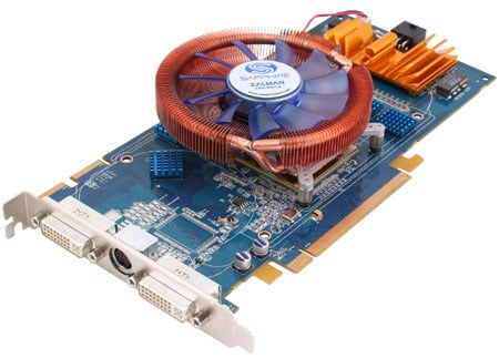 sapphire ultimate edition x1950 pro zalman-cooled graphics card
