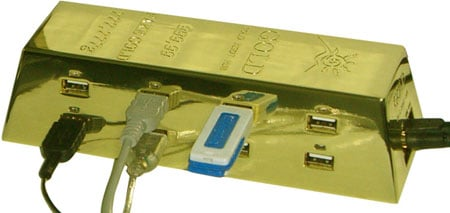 gold ingot usb hub