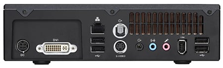 shuttle xpc x100ha rear