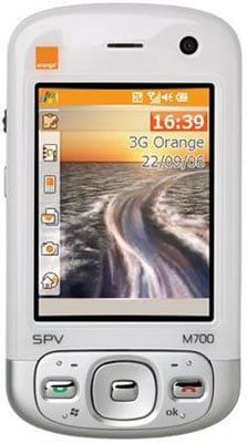 orange spv m700 3g pda phone