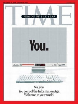 Time's Person of the Year: John Doe blogger