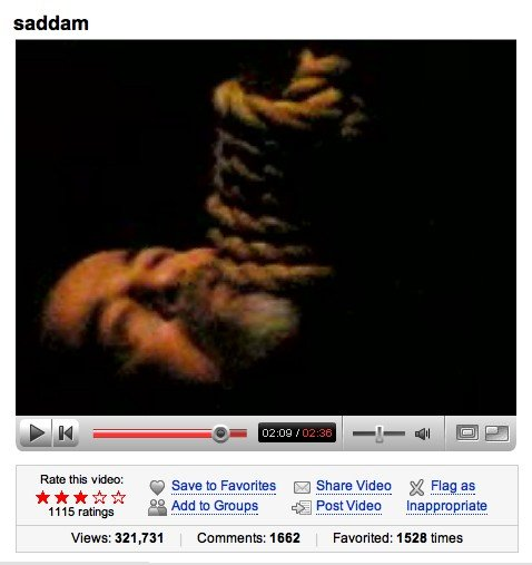 Saddam's execution - a YouTube hit