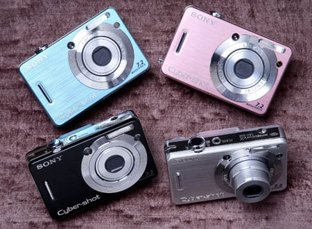 sony cyber-shot dsc-w55 line-up