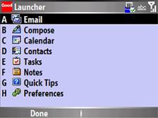 good mobile messaging - launcher