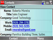 good mobile messaging - contacts