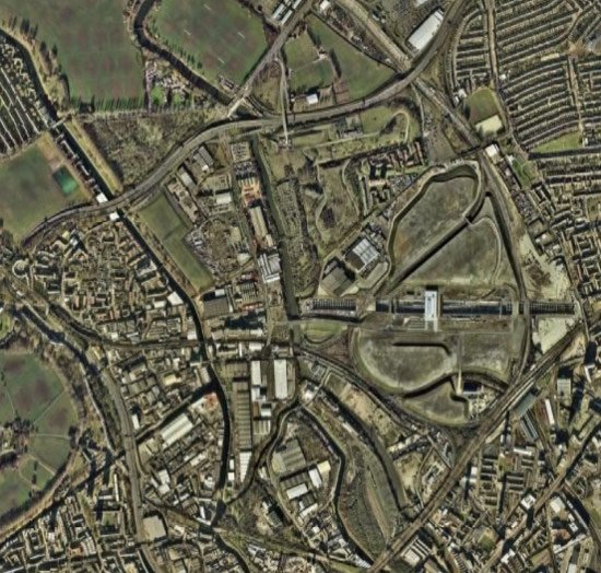 The London Olympics site, as seen on Google Earth