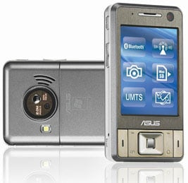 asus p735 3g wireless pda phone