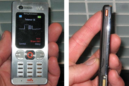 sony ericsson w880 slim 3g walkman phone - image courtesy mobil.mkf.se