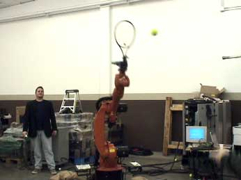 wiimote-controlled robot plays tennis - image courtesy usb mechatronics