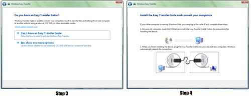 Windows Vista steps three and four