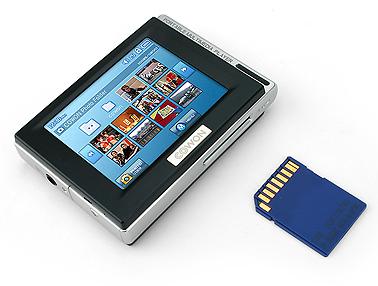 cowon d2 digital media player - photo playback