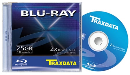 Traxdata Blu-ray re-writable disc