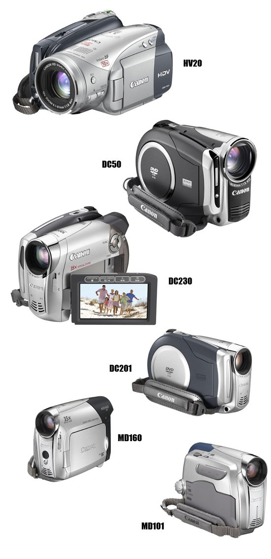Canon's new Spring 2007 camcorders