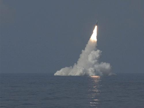 Trident Missile launched from sea