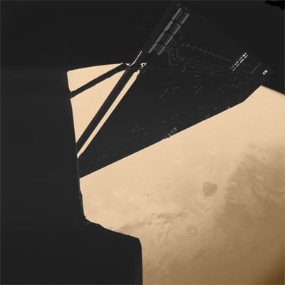 Rosetta on its Mars flyby