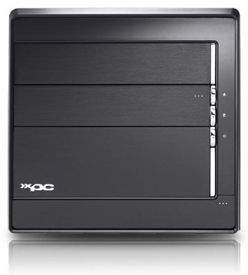 Shuttle SD39P2 quad-core SFF PC - front
