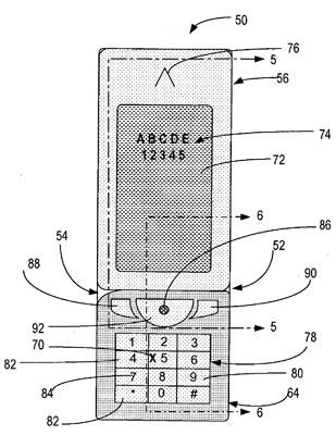 Nokia's rotating numeric pad
