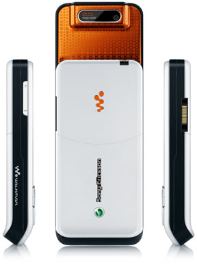 Sony Ericsson W580 - back and sides