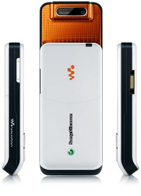 Sony Ericsson W580 - back and