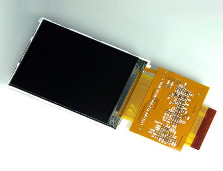 Samsung 2.1in self-adjusting LCD