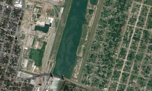 New Orleans as currently seen on Google Earth