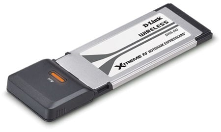 D-Link DWA-643 Xtreme N ExpressCard 802.11n adaptor
