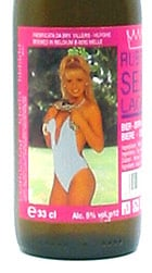 Rubbel Sexy Lager label featuring young lady in swimsuit