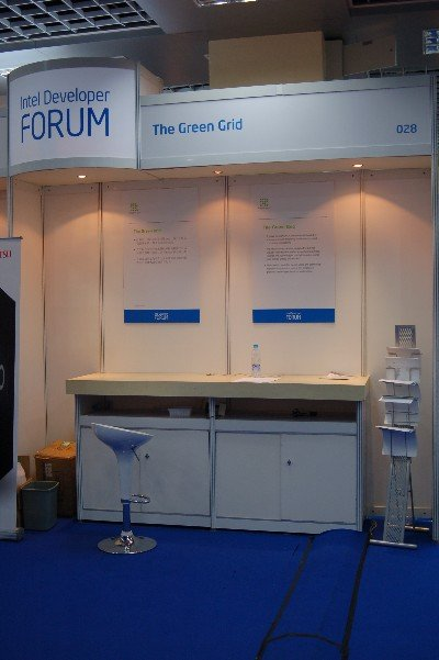 Shot of empty Green Grid booth