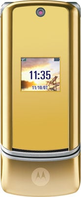 Motorola's champagne gold KRZR K1