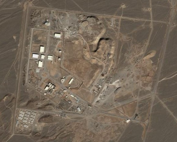 Iran's Natanz nuclear facility as seen on Google Earth