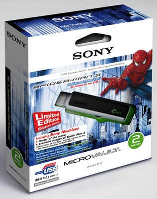 Sony Spider-man Micro Vault box