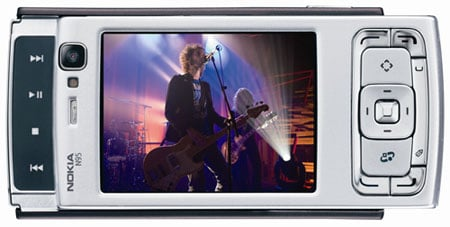 Nokia N95 - secondary slider reveals media keys