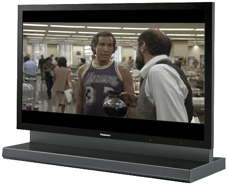 "Panasonic TH-103PF9 - ""Fletch"" image copyright Universal Pictures"