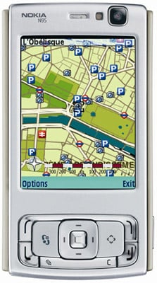 Nokia N95 - map mode