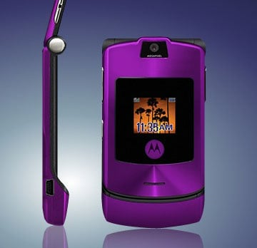Motorola's limited edition purple RAZR V3i
