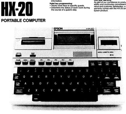 Epson HX-20 - Epson's flyer