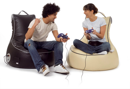 SlouchPod, black and cream
