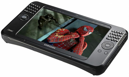 Samsung Q1 Ultra UMPC - Spider-man 3 image courtesy Sony Pictures
