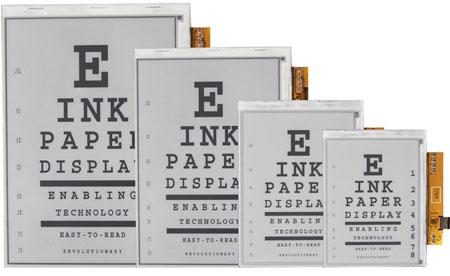E Ink Vizplex electronic ink panels