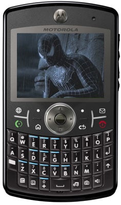 Motorola Q - Spider-man 3 image courtesy Sony Pictures