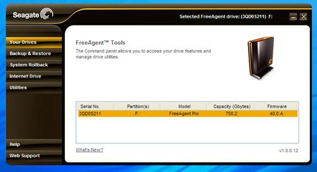 Seagate FreeAgent Tools utility