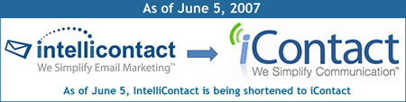 The IntelliContact and iContact logos