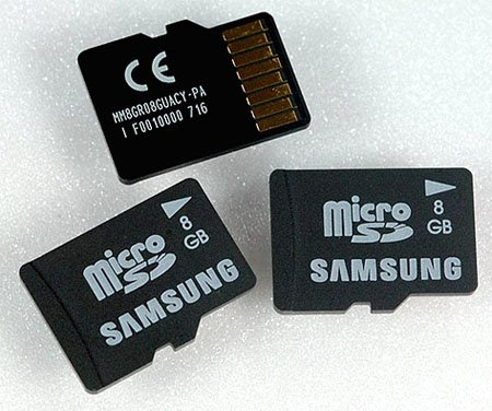 Samsung 8GB MicroSD card
