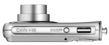 Pentax Optio M30 compact digital camera (top)