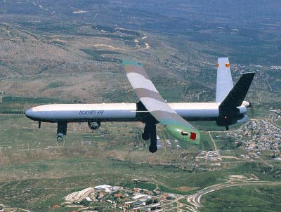 Drone Aircraft on The Hermes 450 Drone Aircraft