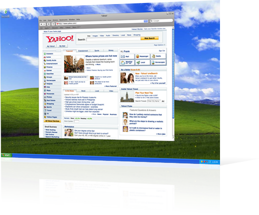 screenshot of Apple Safari on Windows - at an angle