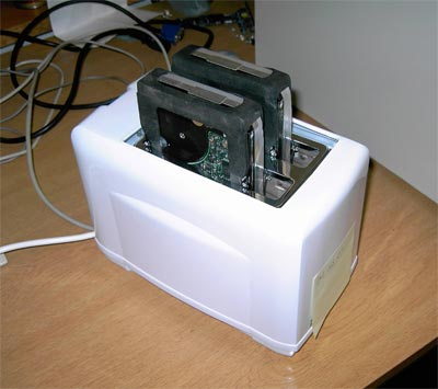 Is it a toaster? Is it a NAS? Too many questions...