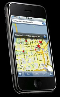 iPhone Google Maps
