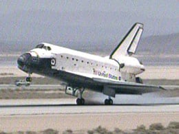 Atlantis touches down at Edwards AFB. Photo: NASA