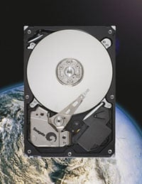 Seagate artist's rendering of what the drive would look like in space